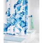 Штора для ванных комнат Europe, цвет синий, 180х200 см