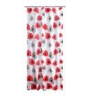 Штора для ванных комнат Poppy, цвет красный, 180х200 см