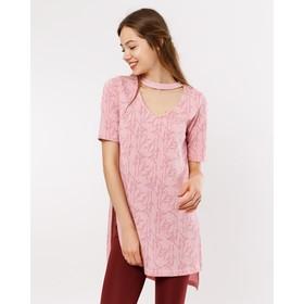 Туника женская, цвет колоски на розовом, размер 50 (XL) Ош