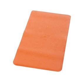 Коврик противоскользящий Basic, оранжевый, 36x71 см