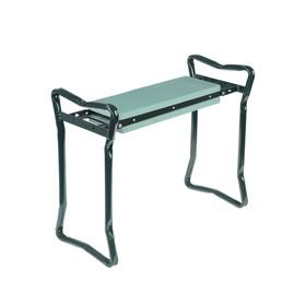 Скамейка-перевёртыш садовая, 60 × 27 × 47 см, макс. нагрузка 100 кг, зелёная Ош