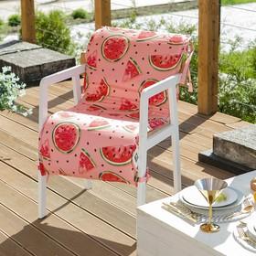 Подушка на уличное кресло «Этель» Арбузы, 50×100+2 см, репс с пропиткой ВМГО, 100% хлопок Ош