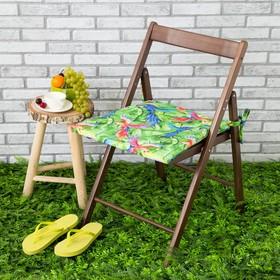 Подушка на стул уличная «Этель» Попугай, 45×45 см, репс с пропиткой ВМГО, 100% хлопок