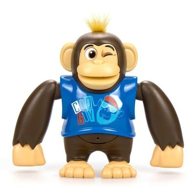 Робот-обезьянка «Чимпи», синяя - Фото 1