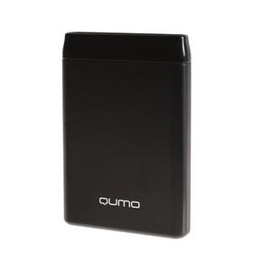 Внешний аккумулятор Qumo PowerAid, 5000 мАч, 2 USB, 2 А, USB/Type C, черный