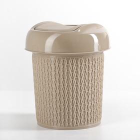Контейнер для мусора 1 л Ajur, цвет кофейный Ош