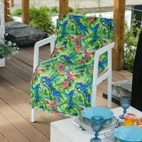 Подушка на уличное кресло «Этель» Попугай, 50×100+2 см, репс с пропиткой ВМГО, 100% хлопок Ош