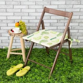 Подушка на стул уличная «Этель» Кактусы, 45×45 см, репс с пропиткой ВМГО, 100% хлопок Ош