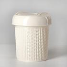 Контейнер для мусора 1 л Ajur, цвет слоновая кость