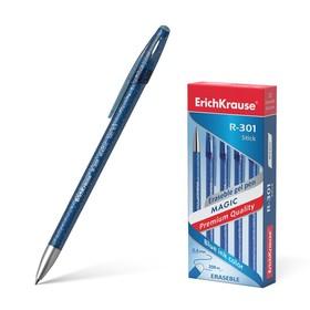 Ручка гелевая «Пиши-стирай» Erich Krause R-301 Magic Gel, узел 0.5 мм, чернила синие стираемые, длина письма 200 метров Ош