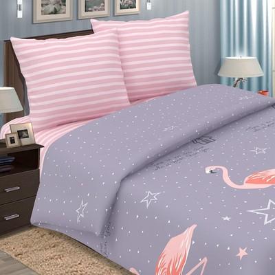 Постельное бельё 1,5сп Pastel «Фламинго», 147х217, 150х220, 70х70 - 2 шт, поплин - Фото 1