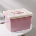 Контейнер для хранения с крышкой Kid's Box, 6 л, 25×20×16 см, 6 вставок, лоток, цвет МИКС