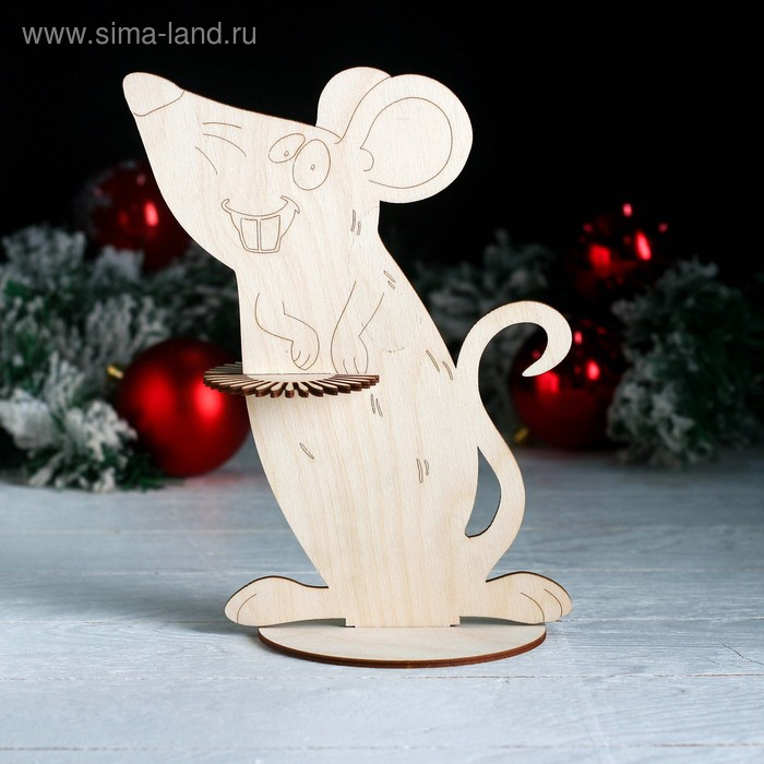 Салфетница «Весёлая мышка», 23,5×18,5×0,3 см