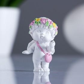 Фигура 'Ангел с сумочкой сердечком' 3х3,5х6см Ош