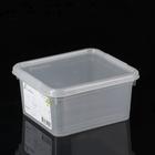 Контейнер для хранения с крышкой Basic, 2 л, 18×16×9 см, цвет прозрачный
