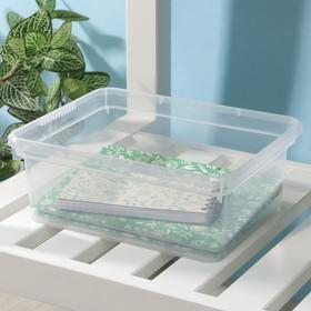 Контейнер для хранения Basic, 3 л, 24,5×19,5×9 см, цвет прозрачный Ош