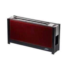 Тостер Ritter VOLCANO5 red, стеклянная передняя панель, настройка степени поджаривания, красный   43