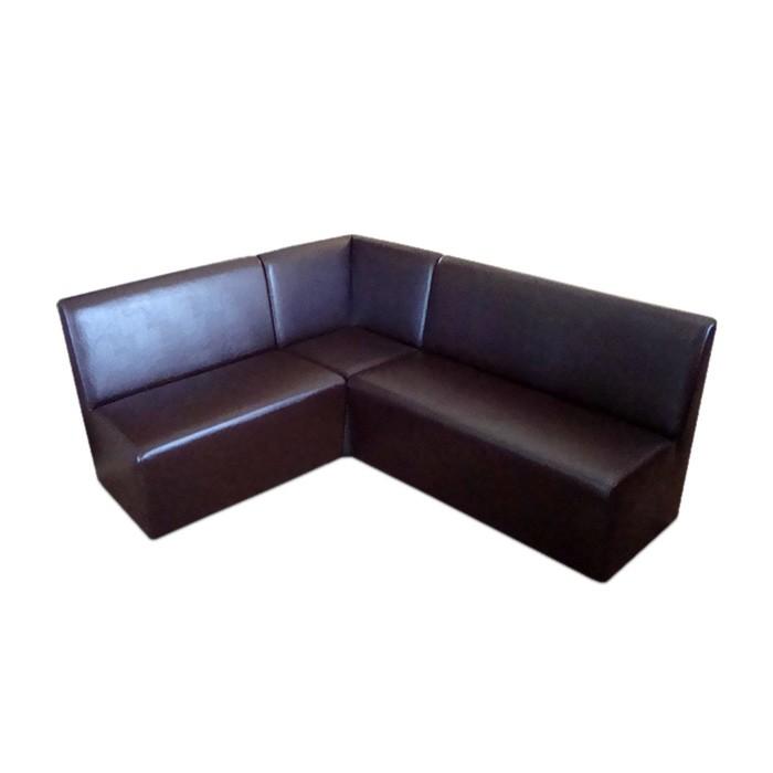 Диван «Лайт угловой», 1830 ? 1430 ? 860 мм, левый угол, экокожа, цвет коричневый