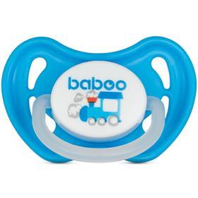 Пустышка BABOO скошенная ночная Transport, от 0 месяцев