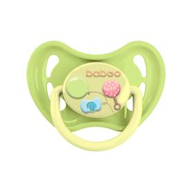 Пустышка BABOO круглая ночная, Baby Shower, от 6 месяцев