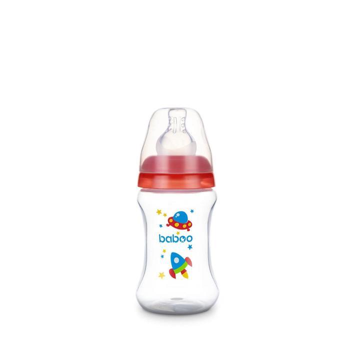 Бутылочка BABOO с силиконовой соской, узкая, 150 мл, Space, от 0 месяцев