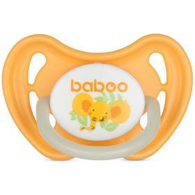Пустышка BABOO круглая ночная, Safari, от 0 месяцев