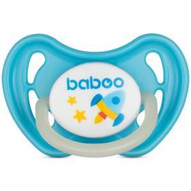 Пустышка BABOO круглая ночная, Space, от 0 месяцев, цвет МИКС