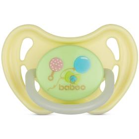 Пустышка BABOO круглая ночная, Baby Shower, от 0 месяцев