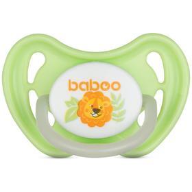 Пустышка BABOO круглая ночная, Safari, от 6 месяцев