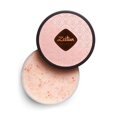 Смягчающий скраб для тела Zeitun «Ритуал нежности», с дамасской розой и маслом персика, 200 г