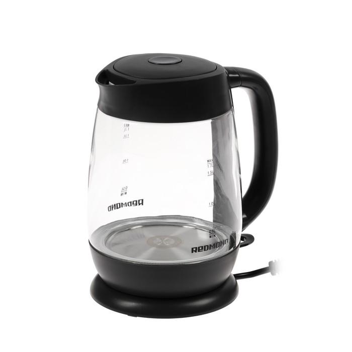 Чайник электрический REDMOND RK-G154, 2200 Вт, 1.7 л, черный