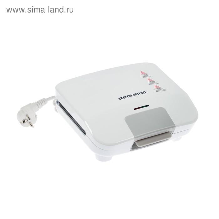 Бутербродница Redmond RSM-1407-E, 750 Вт, антипригарное покрытие, белая