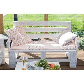 Подушка на трехместную скамейку «Этель» Сетка, 45×150 см, репс с пропиткой ВМГО, 100% хлопок Ош