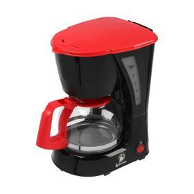 Кофеварка 'ВАСИЛИСА' КВ1-600, капельная, 600 Вт, 0.6 л, чёрно-красная Ош