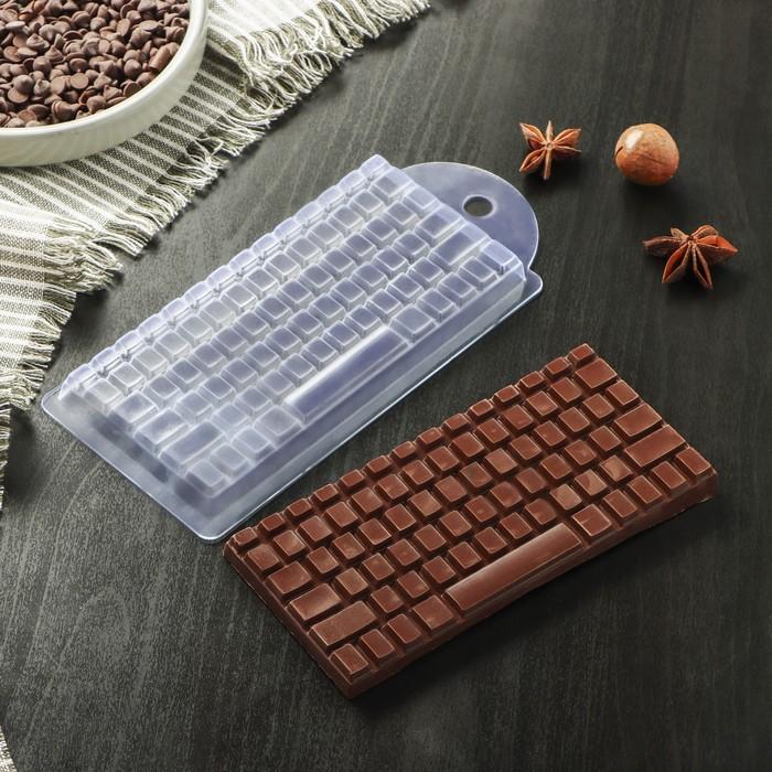 "Форма для шоколада 7×15×1 см ""Клавиатура"""