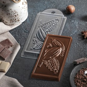 "Форма для шоколада 7×15×1 см ""Какао"""