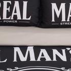 """Постельное бельё """"Этель"""" 2 сп Real Man 175х215 см, 200х220 см, 50х70+3 см - 2 шт - Фото 4"""