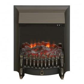 Электроочаг Fobos Lux Black, 20', 1500 Вт, 2 режима обогрева, муляж сгоревших дров Ош