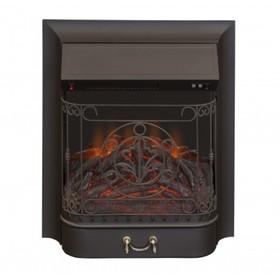 Электроочаг Majestic Lux Black, 20',1500 Вт, 2 режима обогрева, звук потрескивания дров Ош