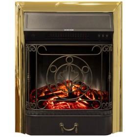 Электроочаг Majestic Lux Brass, 20', 1500 Вт, 2 режима обогрева, звук потрескивания дров Ош