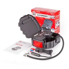 Компрессор автомобильный AUTOPROFI, 7 Атм, 12 л./мин, шланг 0,5 м, сигнальный фонарь, Ош