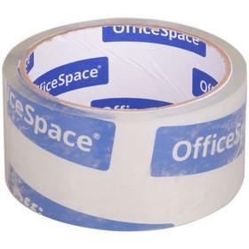 Клейкая лента упаковочная 48мм*40м OfficeSpace, 38мкм, крист чистая, полипропилен 205469