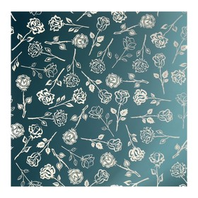 Зеркало облицовочное «Розы», с лазерной гравировкой, 25×25 см Ош