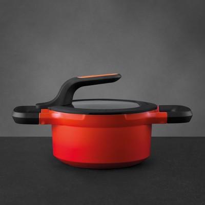 Кастрюля с крышкой Gem red, 16 см, 1.5 л - Фото 1