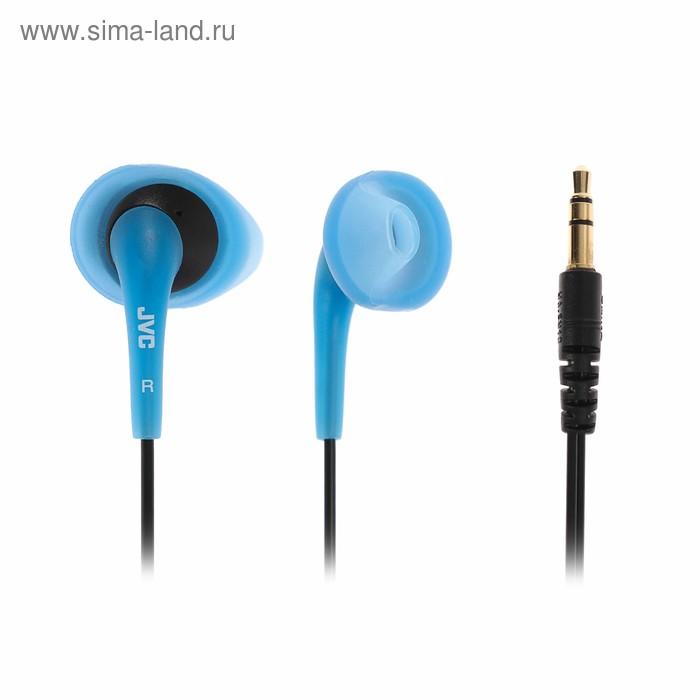 Наушники с микрофоном  JVC EN10, вкладыши, синие