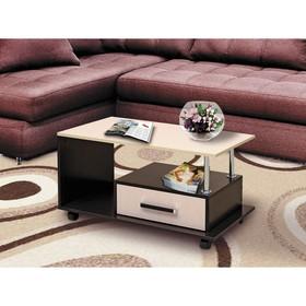 Стол журнальный №13, 900 × 500 × 475 мм, цвет венге / цвет молочный дуб