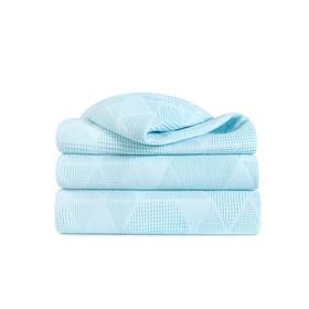 Плед, размер 150 × 190 см, жаккард, цвет голубой