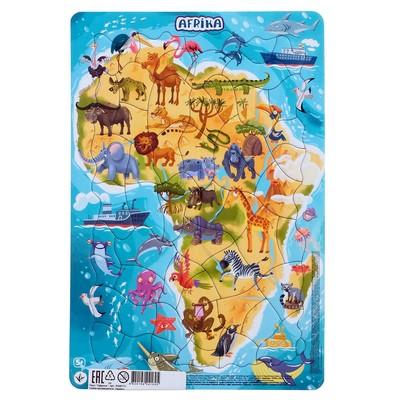 Пазл в рамке «Африка», 53 элемента - Фото 1