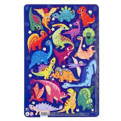 Пазл в рамке «Динозавры», 53 элемента - Фото 1