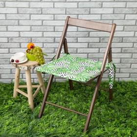 Подушка на стул уличная «Этель» Геометрия, 45×45 см, репс с пропиткой ВМГО, 100% хлопок